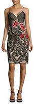 Basix II Sleeveless Rose-Print Dress