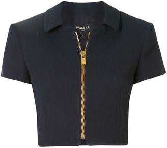Paule Ka Cropped Zip-Up Jacket