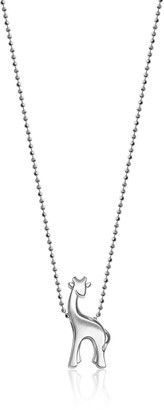 "Alex Woo Little Animals"" Sterling Silver Giraffe Pendant Necklace 16"""