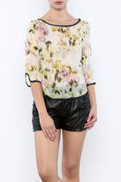 Search for Sanity Floral Sheer Top