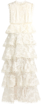 Zimmermann Winsome Tier Vine embroidered silk-organza gown