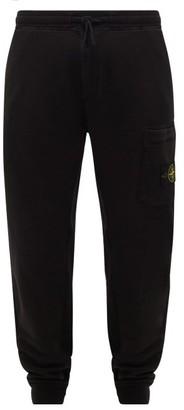 Stone Island Logo-patch Cotton-jersey Track Pants - Mens - Black