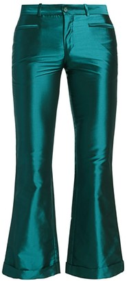 Each X Other Iridescent Kick-Flare Trousers