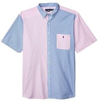 Polo Ralph Lauren Big & Tall Big Tall Seersucker Shirt (Fun Shirt) Men's Short Sleeve Button Up
