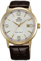 Orient ER27004W Men's Symphony Automatic Dial Gold Tone Leather Strap Mechanical Watch