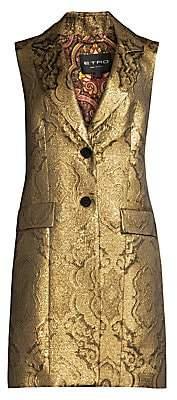 Etro Women's Metallic Jacquard Long Vest