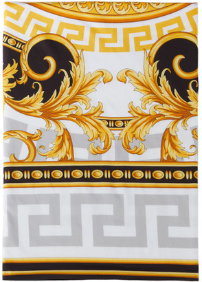 Versace Black and Gold Medusa Duvet Cover, Queen