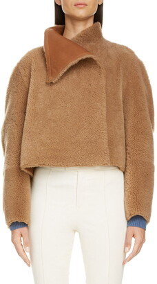 Isabel Marant Reversible Genuine Shearling Crop Coat