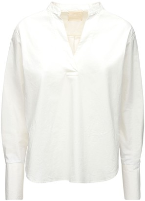 Forte Forte V Neck Cotton Poplin Shirt