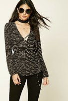 Forever 21 FOREVER 21+ Abstract Print Wrap Blouse