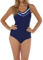 Seaspray Crete inset piping swimsuit