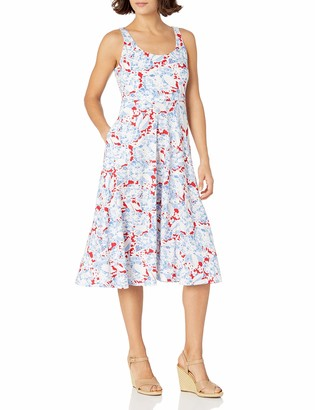 Chaps Women's Petite Floral Jersey Dress
