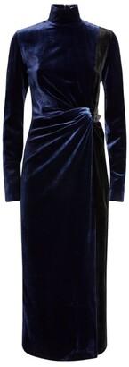 16Arlington Velvet Morie Midi Dress