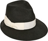 Borsalino Straw Hat With Grosgrain Hatband