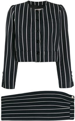Saint Laurent Pre-Owned striped two-piece suit
