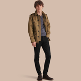Burberry Cotton Field Jacket with Detachable Warmer