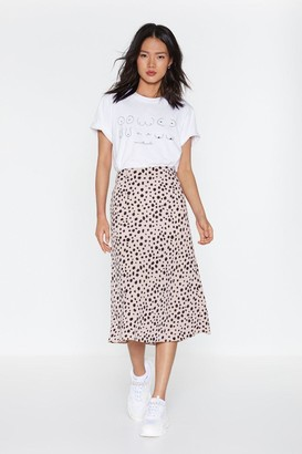 Nasty Gal Womens Get the Upper Hound Dalmatian Midi Skirt - Purple - 4
