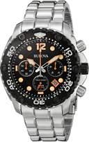 Bulova Specials Bulova 98B244 Men's Sea King UHF Black Dial Steel Bracelet Chrono Dive Watch