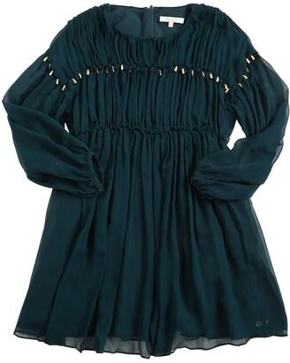 Chloé Pleated Silk Crepe Party Dress