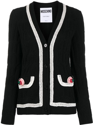 Moschino Icing-trim knitted cardigan