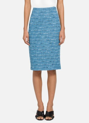 St. John Artisanal Space Dyed Stripe Skirt