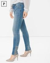 White House Black Market Petite Embroidered Skimmer Jeans