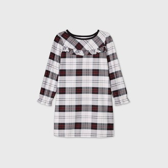 Kids' Holiday Plaid Flannel Matching Family Pajamas Nightgown - WondershopͲ