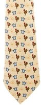Hermes Morning Print Silk Tie