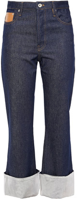 Paco Rabanne Metallic-trimmed High-rise Kick-flare Jeans