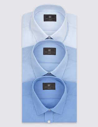 M&S CollectionMarks and Spencer 3 Pack Regular Fit Short Sleeve Shirts