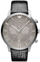 Emporio Armani Men's Stainless Steel & Croc-Embossed Leather Watch