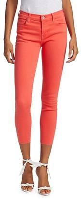 J Brand 835 Mid-Rise Crop Skinny Jeans