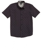 Volcom Zeller Medallion Print Short Sleeve Woven Shirt (Toddler & Little Boys)