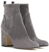 Grey Suede Ankle Boots - ShopStyle