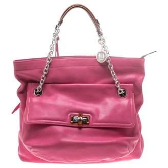 Lanvin Pink Leather Handbags