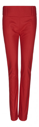 Acne Studios Red Wool Trousers