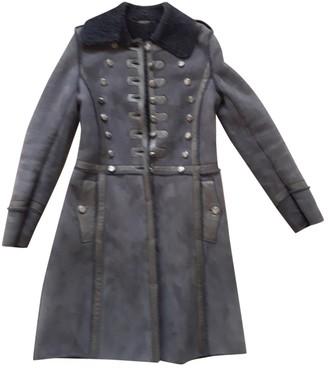Dolce & Gabbana Grey Shearling Coat for Women