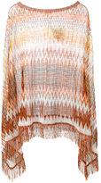 M Missoni asymmetric draped poncho