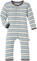 Kickee Pants Print Coverall (Baby) - Boy Musical Stripe-6-12 Months