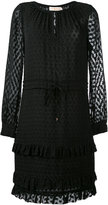 Tory Burch textured sheer dress - women - Silk/Polyester/Viscose - 2