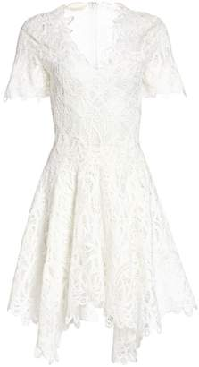 Jonathan Simkhai Threaded Lace V-Neck Dress