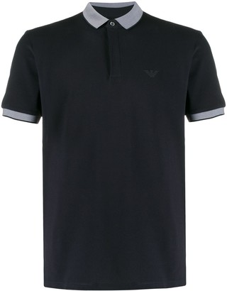 Emporio Armani Printed Collar Polo Shirt