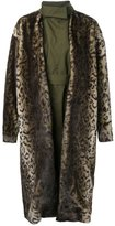 Toga faux-fur leopard print coat