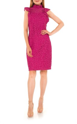 Alexia Admor Kendall Lace Cap Sleeve Sheath Dress