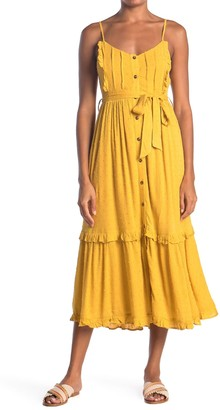 Hyfve Tie Waist Tiered Midi Dress