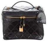 Chanel Vinyl Vanity Case w/ Strap