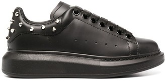 Alexander McQueen Stud-Heel Leather Sneakers