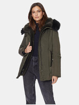Thumbnail for your product : Dawn Levy Luka Fitted Parka with Velvet & Fur Trim
