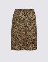 Marks and Spencer Animal Print A-Line Mini Skirt