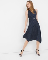 White House Black Market Stripe Fit-and-Flare Dress